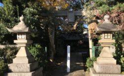 神門とミモザガーデン逆側に昔からある奥澤神社